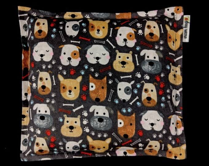 Flannel Dog Corn Bags, Heat Pack, Microwave Corn Heating Pad, Heated Bag, Ice Pack, Relaxation Gift, Gift for Children, Dogs Bag, Bed Warmer