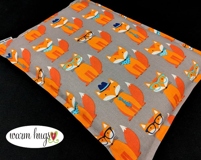 Microwave Corn Bags, Heat Pack, Corn Heating Pad, Relaxation Gift, Massage Therapy, Bed Warmer, Muscle Pain, Dorm Room Gift, Fox Corn Bag