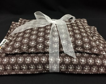 Corn Bag Set, Corn Heating Pad, Microwave Heating Pad, Snowflake Fabric, Heat Therapy, Massage Relaxation Gift, Bed Warmer, Unisex Gift Set