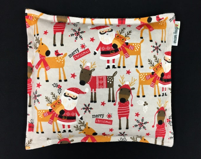 Santa Corn Bags, Heat Pack, Corn Heating Pad, Christmas Corn Bags, Heated Bag, Ice Pack, Relaxation Gift, Stocking Stuffer, Secret Santa