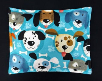 Corn Bags, Flannel Heat Pack, Corn Heating Pad, Microwave Corn Bags, Gift for Children, Heated Bag, Ice Pack, Relaxation Gift - Dog Faces