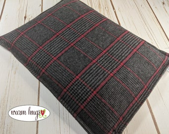 Large Flannel Warm Hug Corn Bag, Corn Heating Pad, Cabin Bed Warmer, Relaxation Gift, Microwave Heat, Hot Cold Pack, Gift For Him, Dorm Room