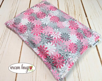 Warm Hugs Flannel Microwave Corn Heating Pad 7 x 9.5 for Hot Cold Therapy, Corn Bags, Migraine Headaches, Comfort Gift, Secret Santa, Dorm