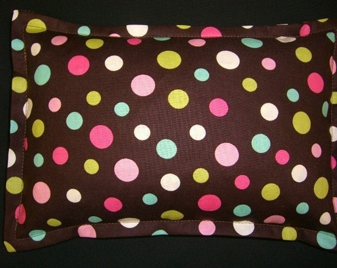 Heat Pack, Corn Bags, Hot Cold Therapy, Microwave Heating Pad, Relaxation Gift, Pain Relief, Massage Therapy, Brown with Colored Dots