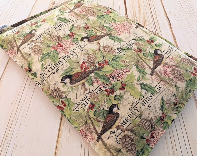 Large Christmas Birds Corn Bag, Corn Heating Pad, Corn Bags, Relaxation Gift, Microwave Heating Pad, Bed Warmer, Gardener Gift, Bird Lover