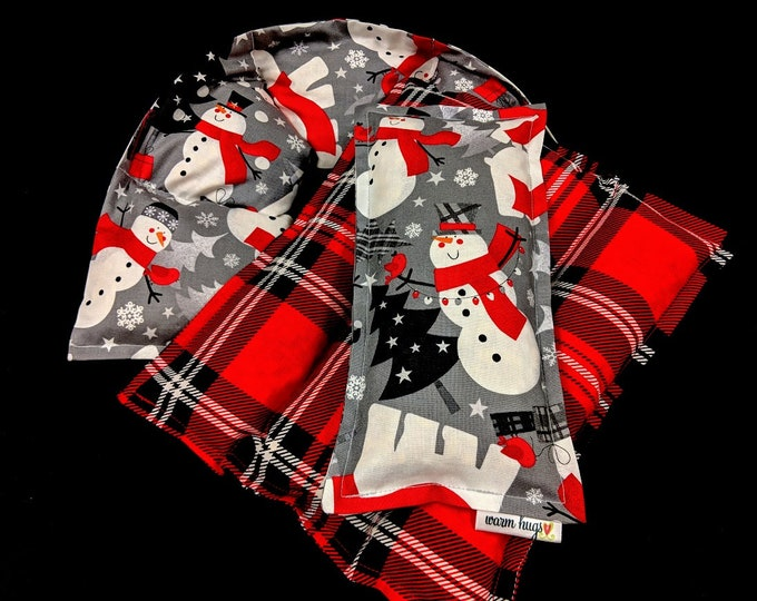 Corn Heating Pad Gift Set, Snowman Corn Bags, Microwave Heat Packs, Hot Cold Therapy Bags, Christmas Gift Idea, Neck Pain Relief, Hostess