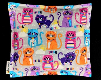 Microwave Heating Pad, Flannel Corn Bags, Heat Pack, Relaxation Gift, Ice Pack, Get Well Gift, Cat Lover Gift,  Muscle Pain, Dorm Room Gift