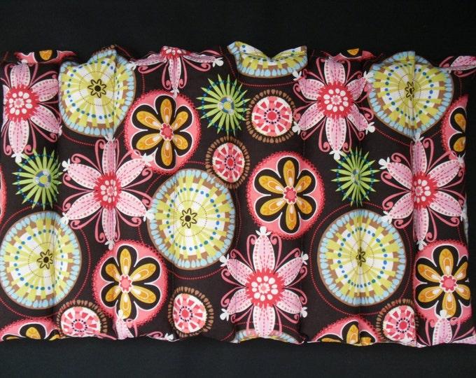 Heat Pack, Corn Heating Pad, Microwavable Menstrual Cramp Pack, Lumbar Bag- Carnival Bloom