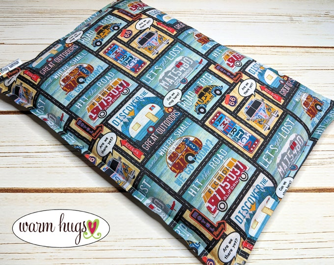 Warm Hugs Comfort Pillow, Microwave Heating Pad, Corn Heat Packs, Relaxation Gift, Hot Cold Therapy, Ice Pack, Bed Warmer, Camper Corn Bag