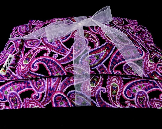 Corn Heating Pad Set, Corn Bags, Microwave Heating Pad, Ice Pack, Heat Therapy, Relaxation Gift, Muscle Pain Relief, Get Well Gift, Paisley