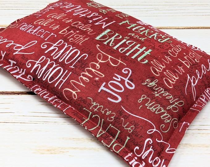 Warm Hugs Microwave Corn Heating Pad, Heat Packs, Corn Bags, Headache Sinus Pressure, Muscle Pain Relief, Holiday Greetings Hostess Gift