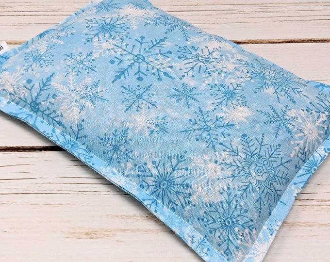 Microwave Corn Heating Pad, Warm Hugs Heat Packs, Corn Bags, Headache Sinus Pressure, Muscle Pain Relief, Light Blue Snowflake