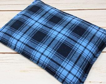 Large Flannel Warm Hug 10 x 14 Corn Bag, Corn Heating Pad, Cabin Bed Warmer, Relaxation Gift, Microwave Heat, Gift For Him, Dorm Room
