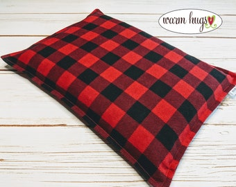 Large Flannel Warm Hug Corn Bag, Microwave Heating Pad, Cabin Bed Warmer, Heated Relaxation Gift, Hot Cold Pack, Gift For Him, Dorm Room,