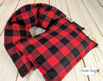 Warm Hugs Secret Santa Gift Set, Microwave Heat Packs, Corn Bag, Relaxation Self Comfort Care, Buffalo Check, Cabin Heating Pads, Bed Warmer