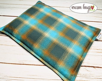 Warm Hugs Flannel Corn Heating Pad, Microwavable Heat Pack, Hot Cold Therapy, Bed Warmer, Massage Therapy, Muscle Pain, Gift for Him