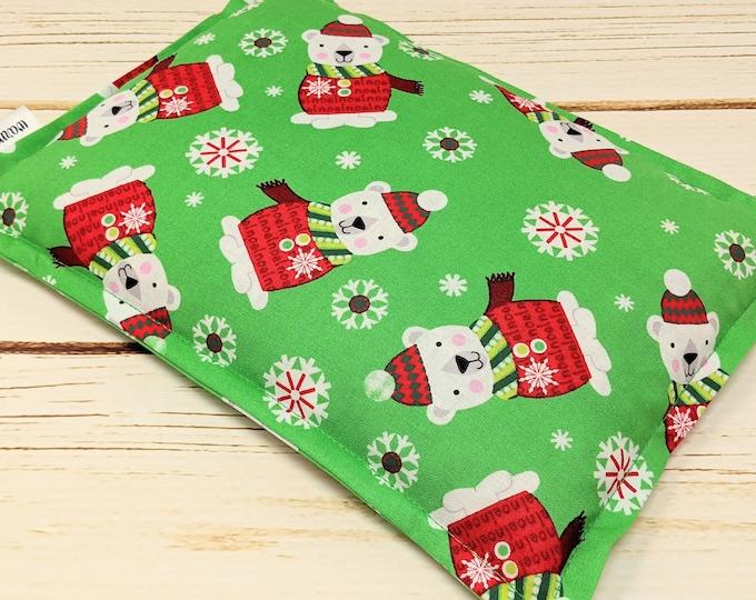 Microwave Corn Heating Pad, Warm Hugs Heat Packs, Corn Bags, Headache Sinus Pressure, Muscle Pain Relief, Secret Santa Bear Christmas
