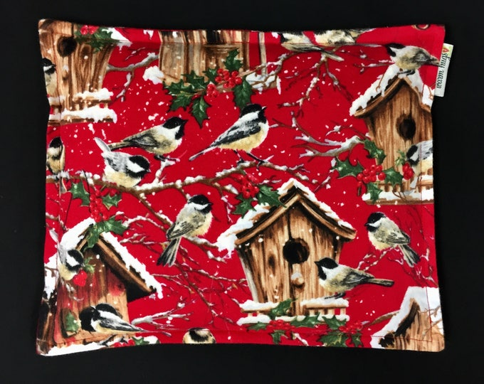 Flannel Corn Bags, Corn Heating Pad 9 x 11, Heat Pack, Cabin Decor, Relaxation Gift, Heated Pillow, Gardener Gift, Bird Lover