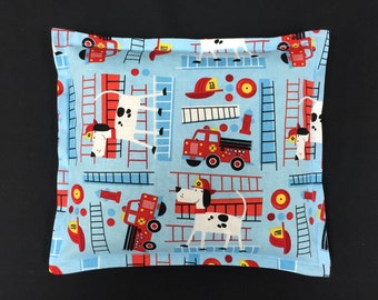 Corn Heating Pad, Kids Corn Bags, Heat Pack, Bed Warmer, Gifts for Children, Microwavable Corn Bags, Ice Pack - Fire Trucks
