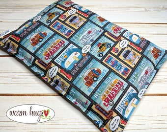 Warm Hugs Camper Microwave Heating Pad, Corn Heat Packs, Relaxation Gift, Hot Cold Therapy, Ice Pack, Bed Warmer, Corn Bags for Cabin
