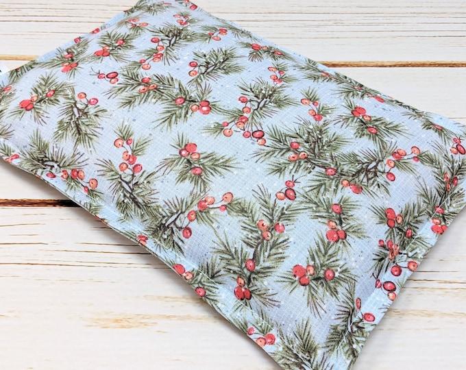 Warm Hugs Microwave Corn Heating Pad, Heat Packs, Corn Bags, Headache Sinus Pressure, Muscle Pain Relief, Sprigs and Berries, Coworker Gift