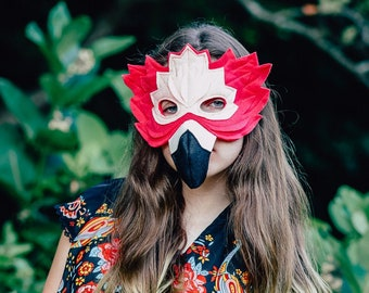 Francesca the Flamingo Felt Mask