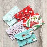 Christmas Gift Card Holders/ Reusable Fabric Gift Card Envelopes Set of 5