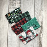 Christmas Holiday Gift Card Envelopes Reusable Fabric Gift Card Holders Set of 5