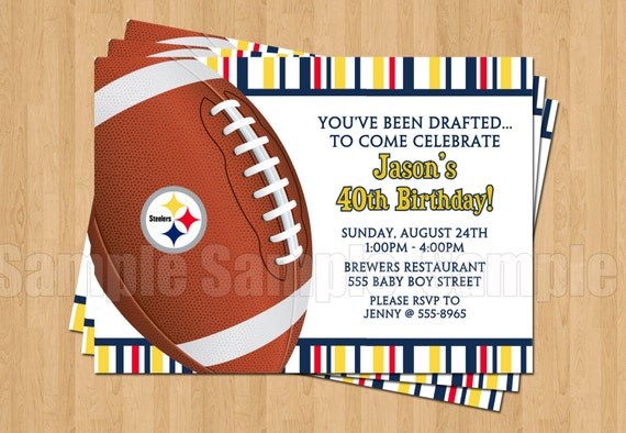 Pittsburg steelers football birthday party invitations sports etsy image 0 filmwisefo