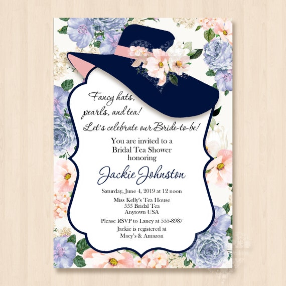 luxury hat party invitation or 73 hat tea party invitation wording
