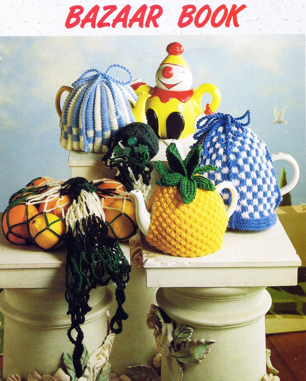 Bazaar Book Knitted And Crocheted Tea Cosies Digital Etsy