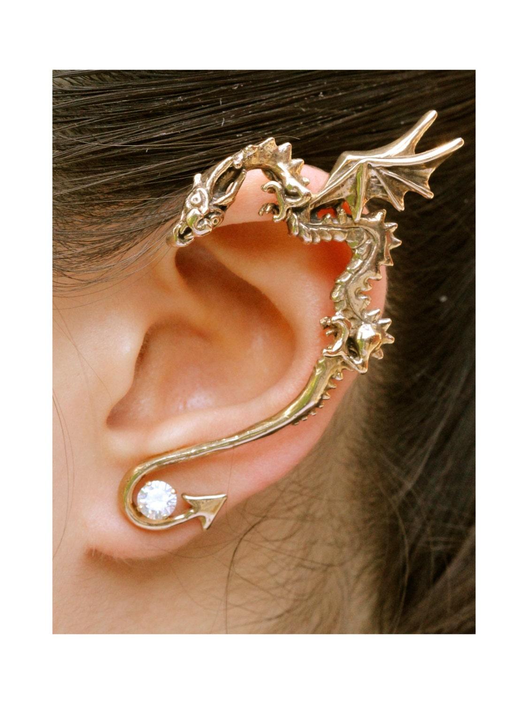 db756944d Dragon Ear Wrap Dragon Ear Cuff Bronze Classic Dragon Ear Wrap | Etsy