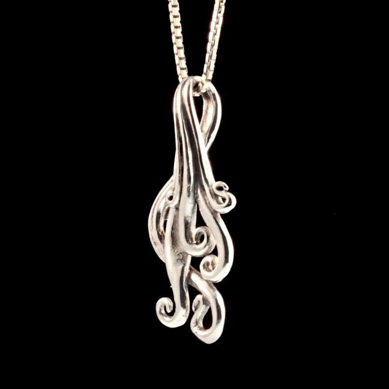 Silver Dangle Earrings Waterfall Earrings Silver Gemstone Waterfall Jewelry Cascade Earrings Ocean Jewelry Wave Earrings Wave Jewelry