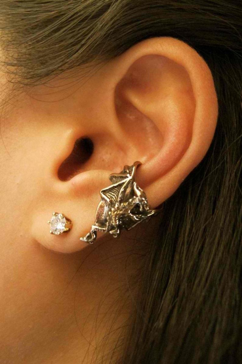 48590f676 Dragon Ear Cuff Bronze Dragon Chevron Dragon Earring Dragon | Etsy