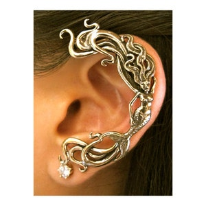 Siren Mermaid Ear Cuff,Siren Cuff,Cosplay Jewelry,Gypsy Hippie Fantasy Style,Teen Gift,Fun Jewelry,Mermaid Jewelry,For Someone Special