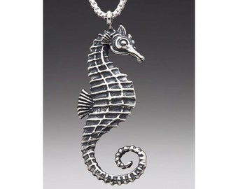 Seahorse Necklace Silver Seahorse Charm Seahorse Pendant Seahorse Jewelry Sea Horse Jewelry Ocean Jewelry Ocean Animal