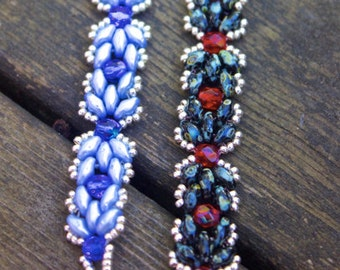 TUTORIAL - Byzantine, beaded bracelet with Super Duos