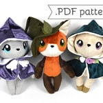 Woodland Witches Anthro Doll Plush Sewing Pattern .pdf Tutorial