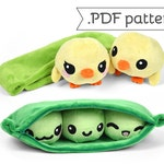 Pea Pod Chick Peas Plush Toy Food Animal Sewing .pdf Pattern