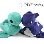 Loch Ness Monster Plush Nessie .pdf Sewing Pattern
