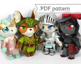 Armor Expansion Pack for Doll Plush Sewing Pattern .pdf Tutorial Knight Helmet
