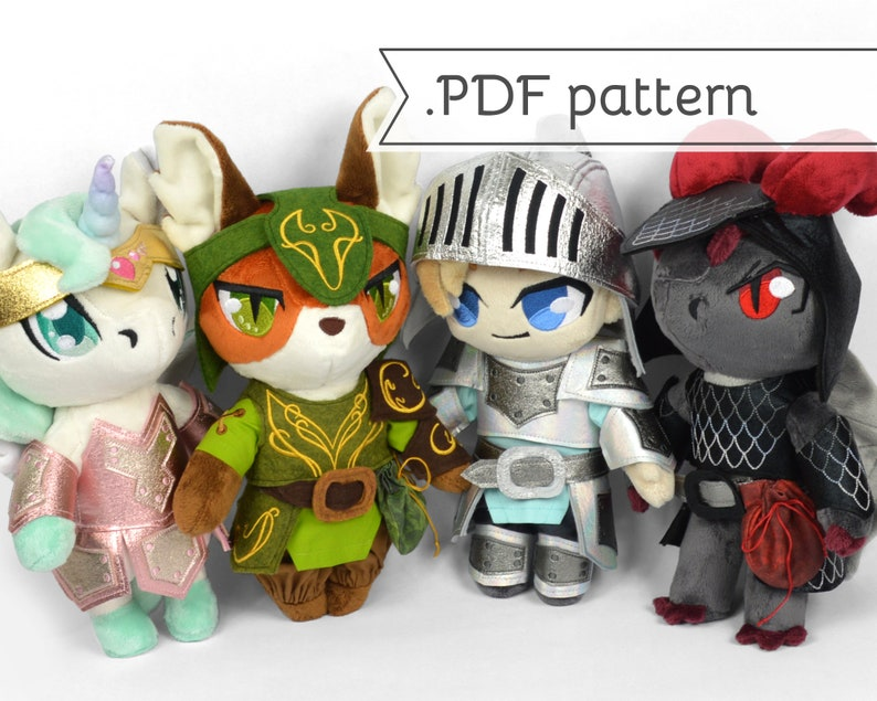Armor Expansion Pack for Doll Plush Sewing Pattern .pdf image 0