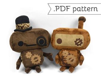 Robot Steampunk Plush Sewing Pattern .pdf Tutorial