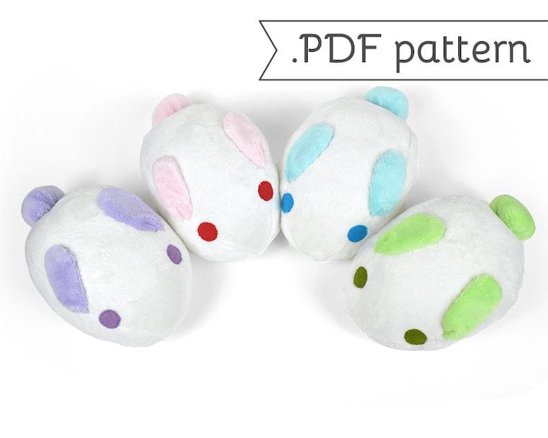 Usagi Manju Sweet Rabbit Bun Plush .pdf Sewing Pattern image 0