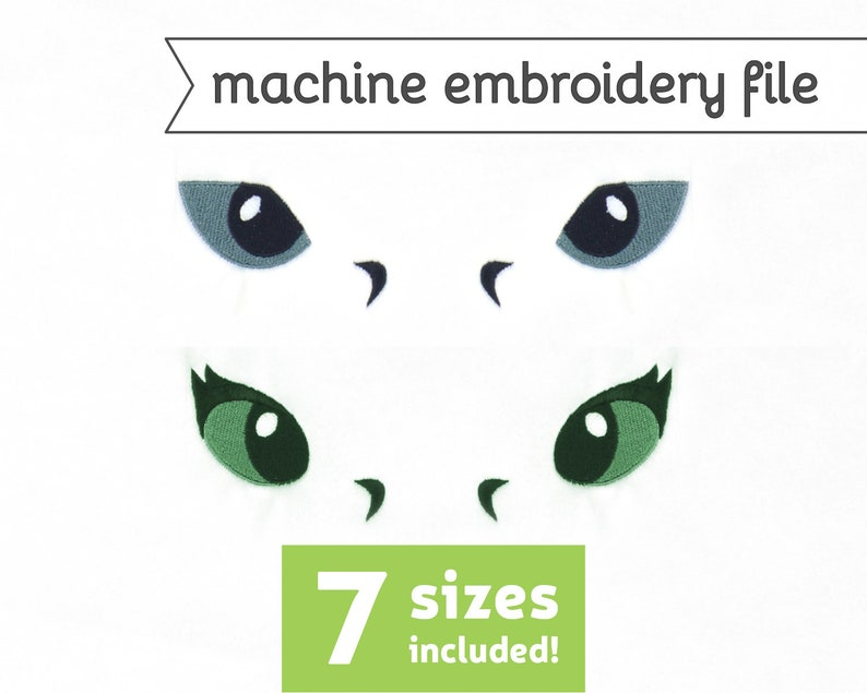 Dragon Eyes 7 Machine Embroidery File Design for Plush 7 image 0