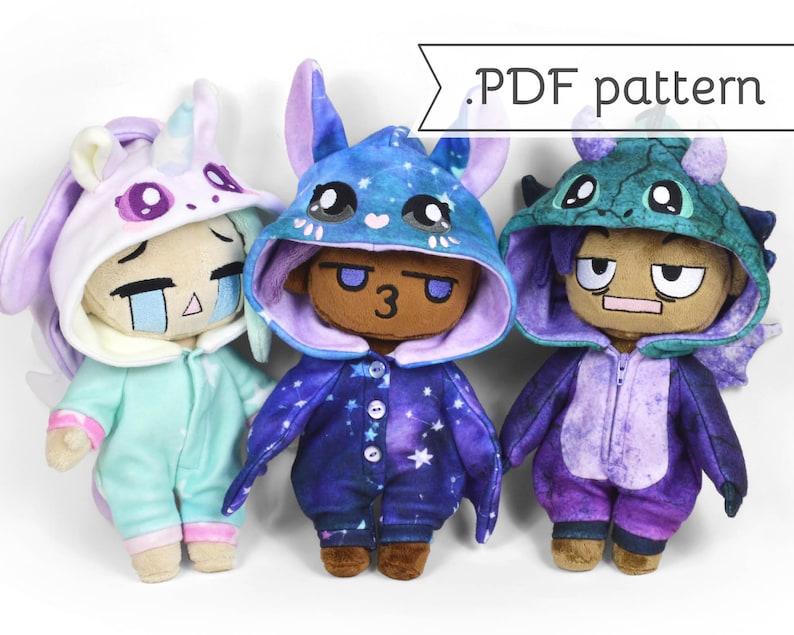 Doll Kigurumi Animal Costume Expansion Pack Sewing Pattern image 0