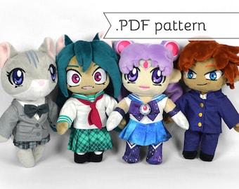 Doll School Uniforms Expansion Sewing Pattern .pdf Tutorial Sailor Suit Blazer