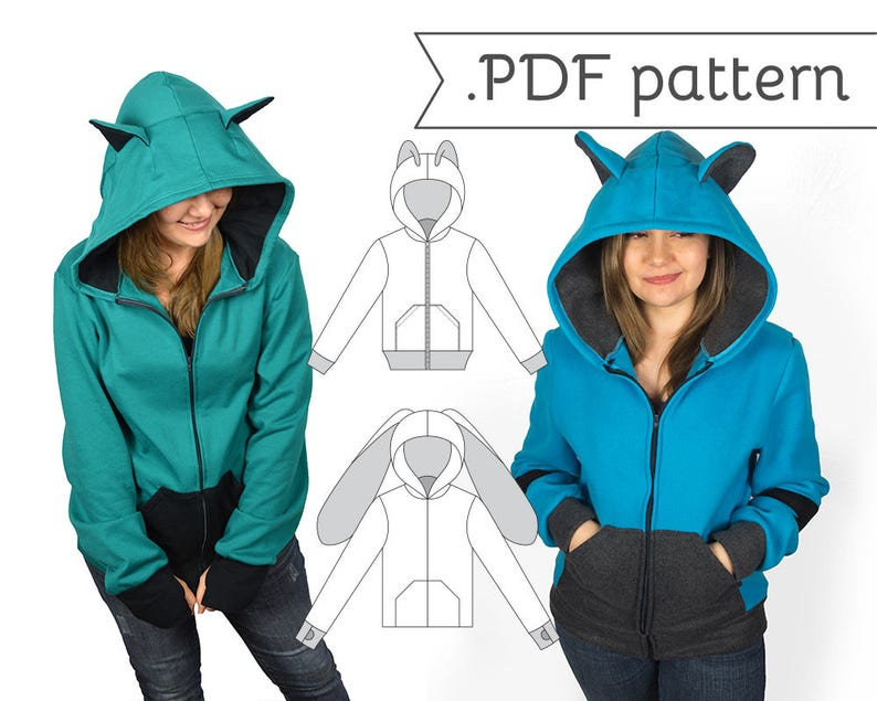 Unisex Men's Relaxed Cosplay Hoodie Sewing Pattern .pdf image 0