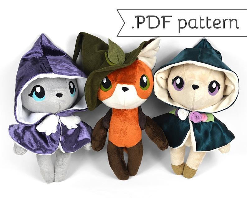 Woodland Witches Anthro Doll Plush Sewing Pattern .pdf image 0