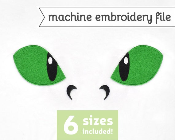 Dragon Eyes Machine Embroidery File Design For Plush Doll 6 Etsy